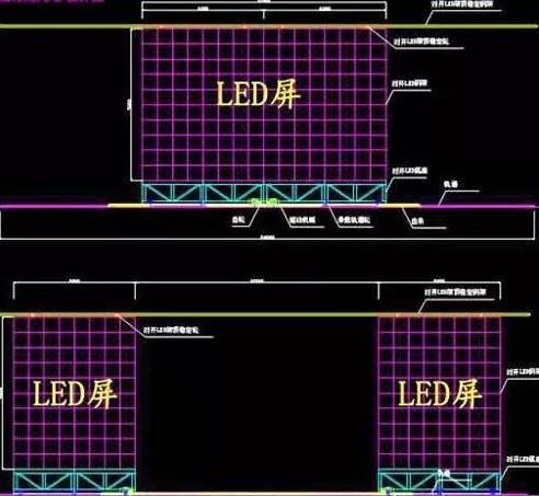 舞台开合式LED大屏
